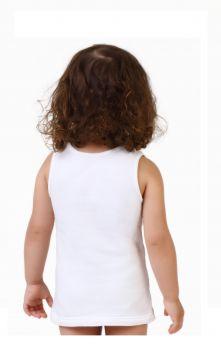 3'lü Bebek Askılı Havlu Atlet - Kız -Beyaz 3lü