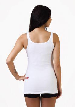 3'lü İnce Askılı Bayan Havlu Atlet - 3 Adet Beyaz