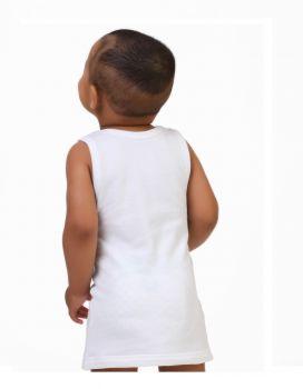 2'li Bebek Askılı Havlu Atlet - Erkek -Beyaz 2 Adet