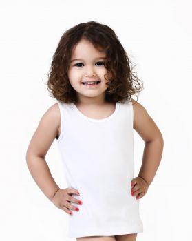 2'li Bebek Askılı Havlu Atlet - Kız -Beyaz 2 Adet